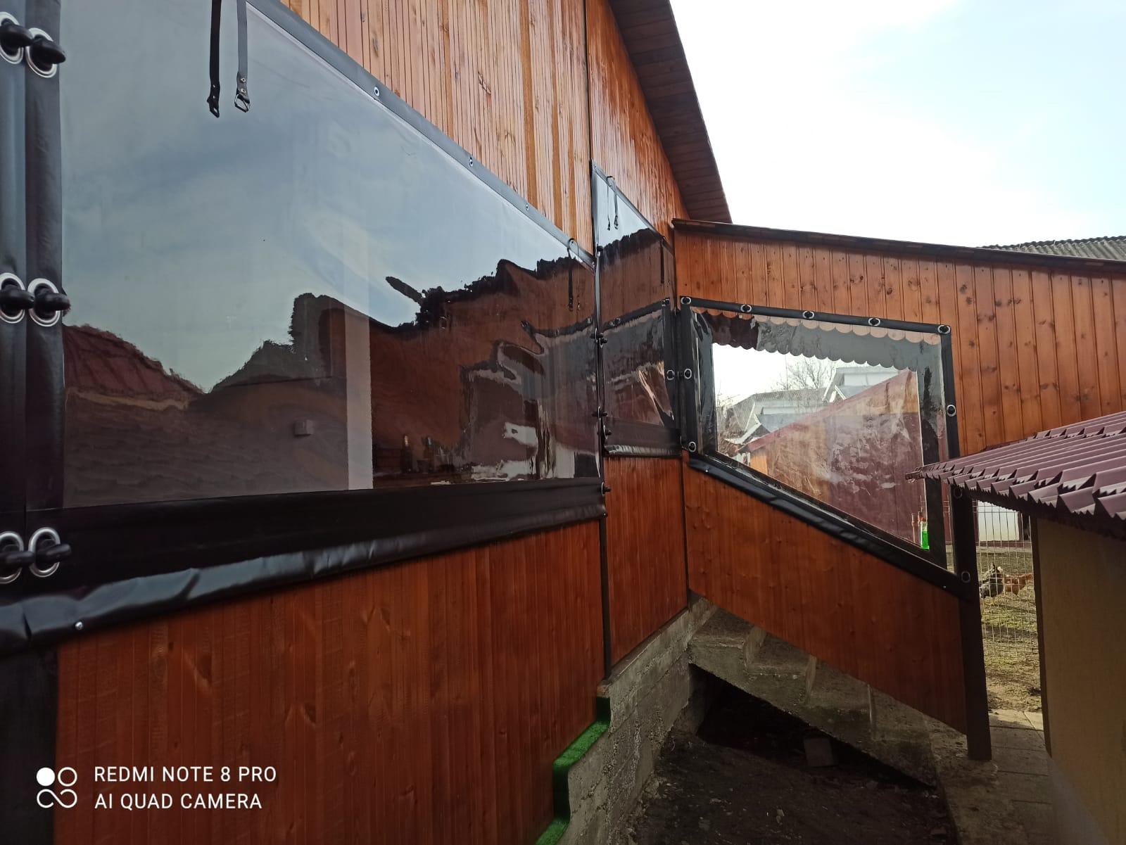Închideri terase cu rulouri folie transparentă CRISTAL Bacau