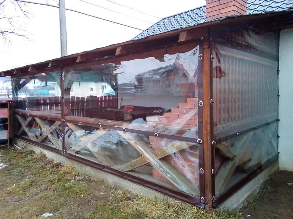 Închideri terase cu rulouri folie transparentă CRISTAL Iasi