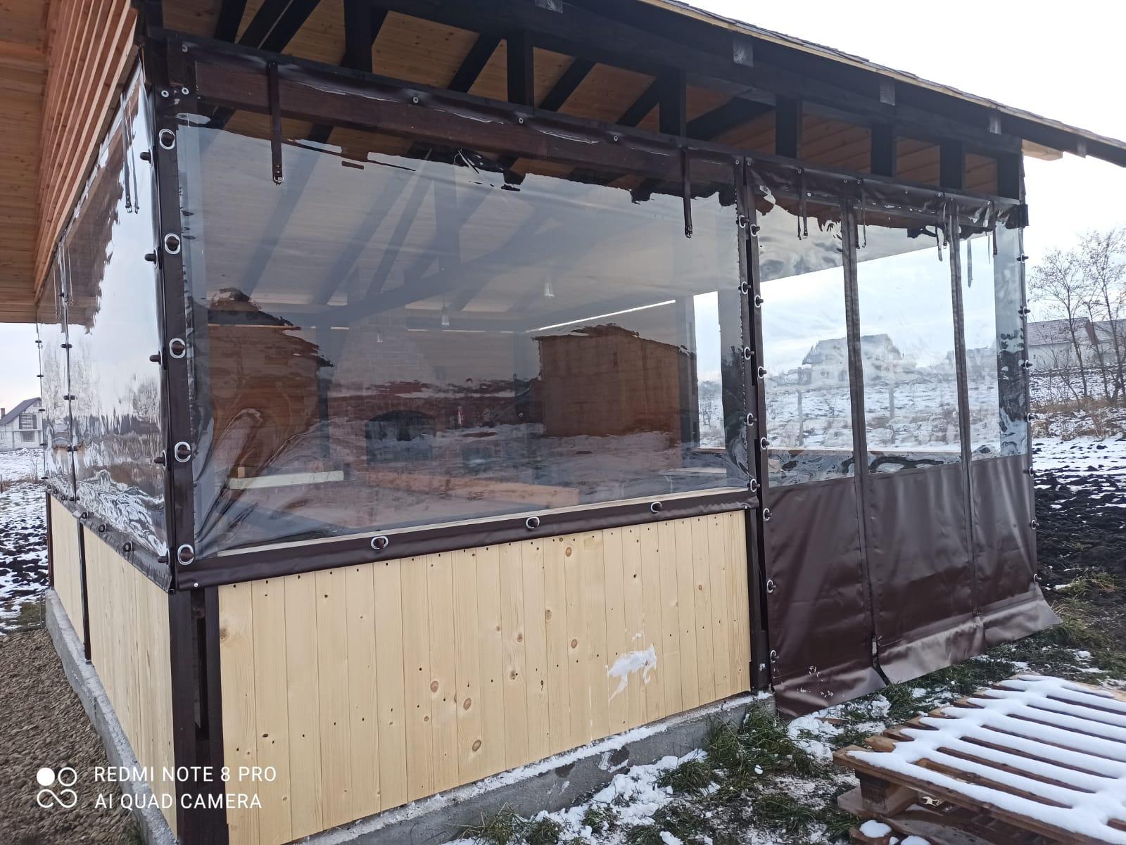 Închideri terase cu rulouri folie transparentă CRISTAL Piatra Neamt Targu Neamt Roman