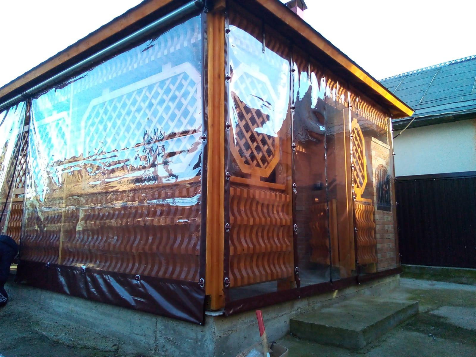 Închideri terase cu rulouri folie transparentă CRISTAL